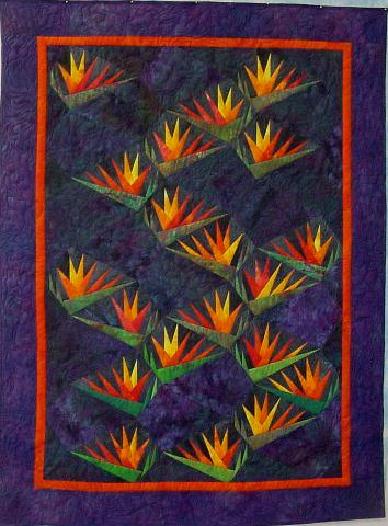 Quilts bird of paradise paper pieced pattern by karen stone pattern is no longer available from me but you might try contacting karen directly mightylinksfo